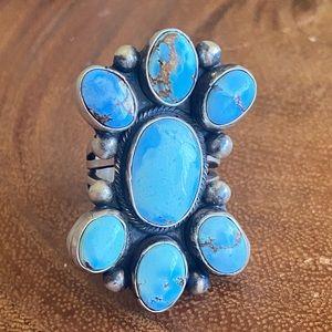 Paul Livingston Golden Hill Turquoise Ring Signed